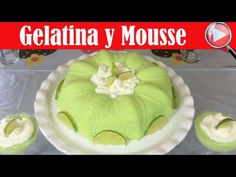 Postre 2 en 1 / Gelatina y Mousse de Limón - Recetas en Casayfamiliatv