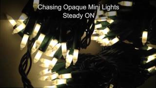 Opaque Painted Chasing Christmas Tree Lights