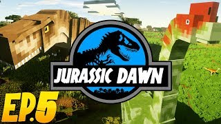 FIRST DINOSAUR HATCHED?! | Jurassic Dawn (Minecraft Modded Survival) | Ep. 5