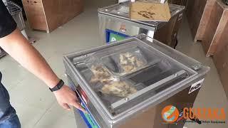 Demo Vacuum Packaging Pizza dengan Vacuum Machine Guataka - Part 1