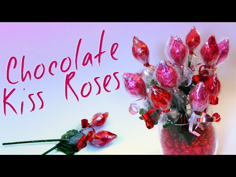 Chocolate Kiss Roses - Valentine's Day (Mother's Day) Gift Ideas For Kids