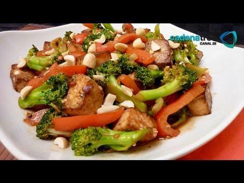 receta de como preparar tofu stir fry receta de tofu