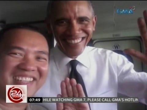 24 Oras: Crew ng BRP Gregorio Del Pilar, naka-selfie si Obama