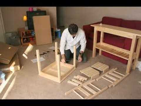 stop-motion IKEA furniture assembly