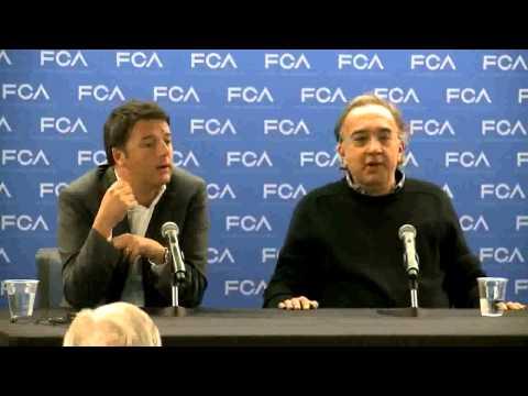 Italian Prime Minister/Sergio Marchionne News Conference-in ITALIAN