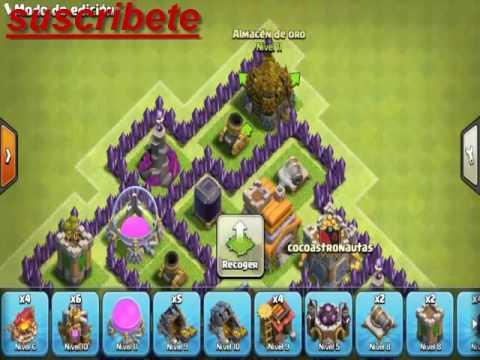 Distribución de Ayuntamiento 7 - Clash of Clans[Zack Look]
