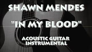 Download Lagu SHAWN MENDES - IN MY BLOOD (ACOUSTIC GUITAR INSTRUMENTAL / KARAOKE) Gratis STAFABAND