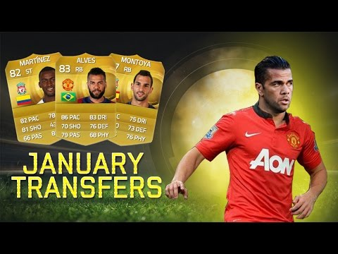 JANUARY TRANSFERS (RUMOURS) #1 DANI ALVES TO MAN UNITED? - FIFA 15