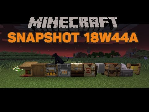 Minecraft 1.14 Snapshot 18W44A! New Cats! New Blocks! and Dyeable Signs!