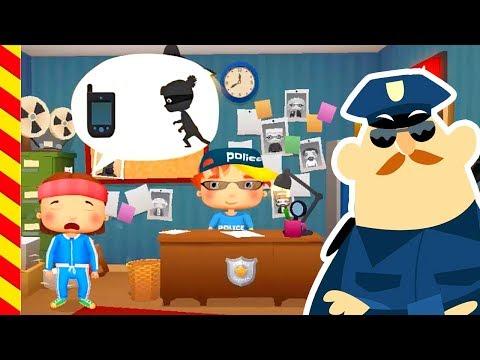 Полицейская машина ловит воришек. Машинки с мигалками новые серии. Полицейская машина для детей