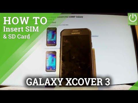 Insert SIM & SD in SAMSUNG Galaxy Xcover 3 - Set Up SIM & SD