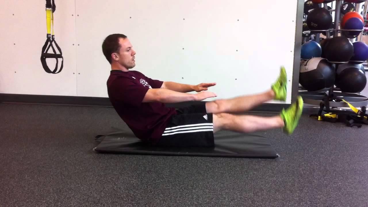 V Sits Modified V-Sit with Leg