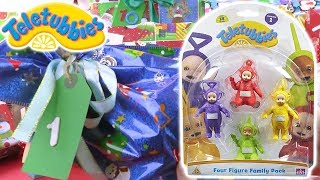 Unboxing Teletubbies Family Pack Figures | 12 Days of Christmas: DAY 1 | Toy Store - Toys for Kids