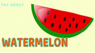 LEARN FRUITS NAMES SONG NURSERY RHYMES VIDEO EDUCATIONAL FOR KIDS LEARN NAMES FRUITS SONGS