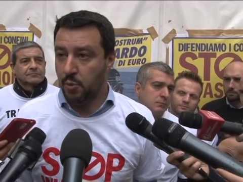 STOPINVASIONE  Conferenza Stampa Matteo Salvini a Milano