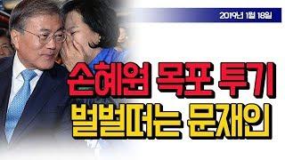 손혜원 목포 투기, 벌벌떠는 문재인 (10시 뉴스) / 신의한수 19.01.18