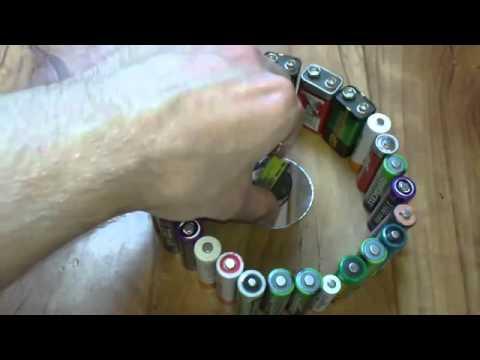 Invento de campo magnetico con pilas