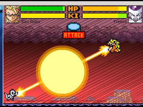 Goku vs Freezer in... Dragon Ball Devolution (Mode versus)