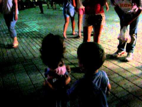 Little kids kissing