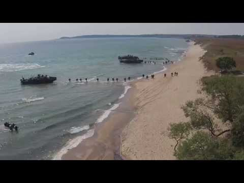 BALTOPS amphibious landing exercise in Sweden