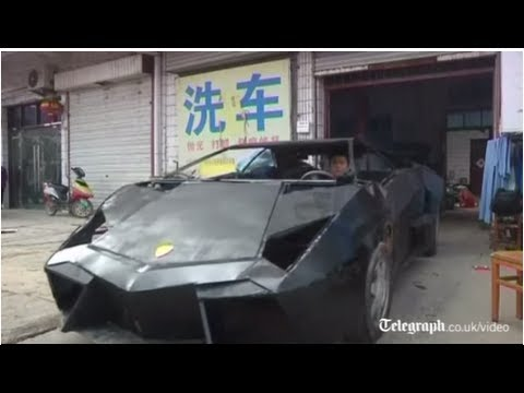 Chinese man builds replica Lamborghini