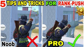 5 TIPS AND TRICKS FOR RANK-PUSHING • PUBG MOBILE TIPS AND TRICKS •