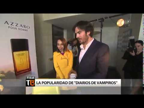Ian Somerhalder en Chile - Canal 13