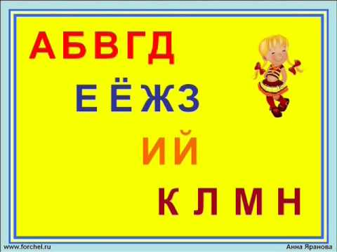 Поем алфавит. Запоминайка / Russian alphabet song.  Наше_всё!