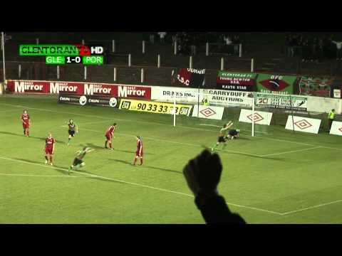 Glentoran 1-0 Portadown BURROWS GOAL