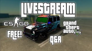 MASINI SI CONTURI GRATIS PE CAR PARKING + GTA REAL LIFE & CS GO + Q&A | PRIMUL LIVE!