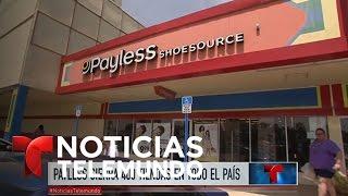 Hispanos consternados por cierre de tiendas de la cadena Payless | Noticiero | Noticias Telemundo