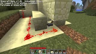 Minecraft Pistons - Wie baut man eine Dusche? - freefungaming
