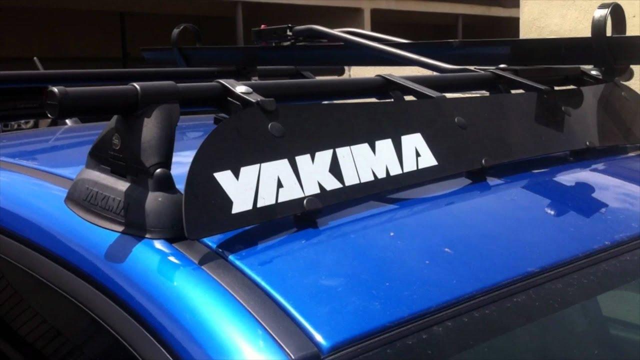 2011 Subaru Wrx Yakima Roof Rack Walk Around Youtube
