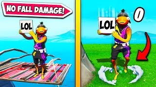 *NEW META* TAKE NO FALL DAMAGE!! – Fortnite Funny Fails and WTF Moments! #665