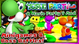 Yoshi Party! (Mario Party 9 Mod) | Mini Games & Boss Battles!