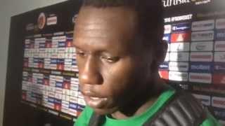 Réaction de Gorgui Dieng après le match Senegal / Maroc