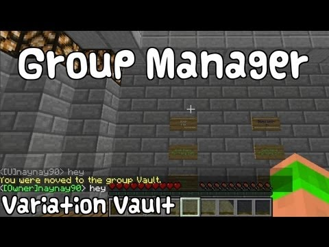 Minecraft Bukkit Plugin -Group Manager - Set ranks / permissions