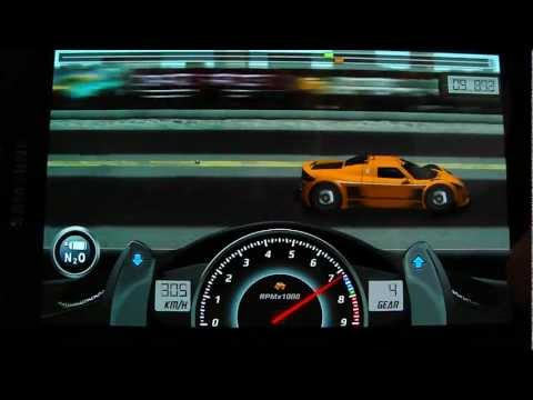 Drag Racing NEW (v1.6) android app level 7 Gumpert Apollo Sport - setting and upgrade