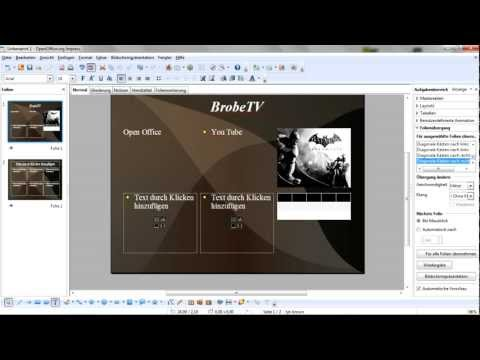 Open Office Tutorial #1 [German]- Powerpoint Präsentation anlegen.