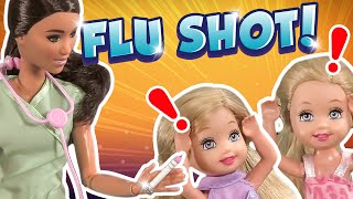 Barbie - The Twins First Flu Shot | Ep.202