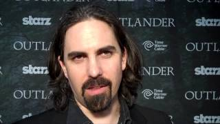 Outlander TV News' Tartan Carpet Interview with Bear McCreary