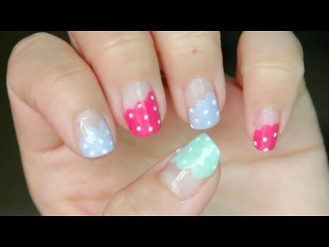 Polka Dots Frilly Nails