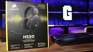 MIND BLOWING!....AND ONLY $50! : Corsair HS50 Headset REVIEW
