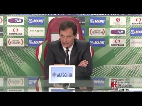 AC Milan | Allegri: 'Troppe disattenzioni contro il Sassuolo' (with subtitles)