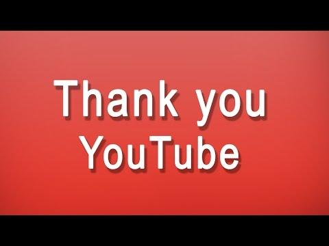 thank you youtube