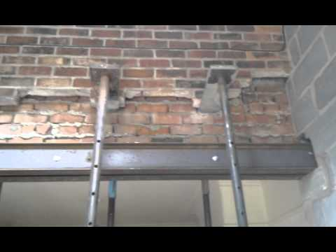 How To Put Steel Rsj Lintels Into A Supporting Wall Youtube