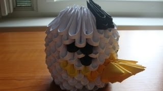 3d Origami White Bird