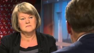 Ulla Andersson (V) och Ulf Kristersson (M) debatterar klyftorna i augusti 2013, 22 aug