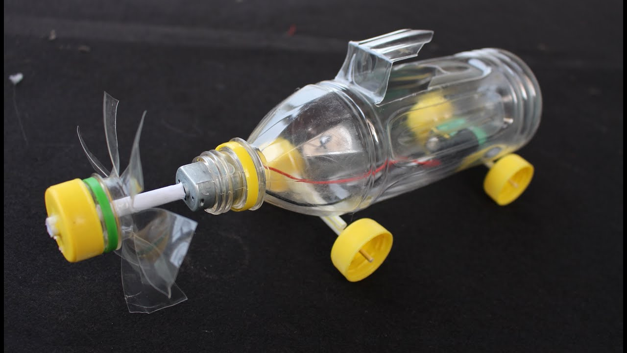 Машинка из бутылки своими руками