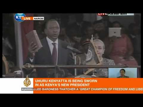 Kenyatta sworn in as Kenya's new president